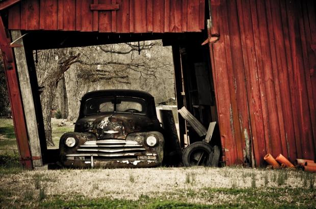 red car barn- miniard