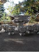 vintage silver punch bowl