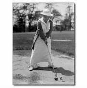 vintage woman golfing