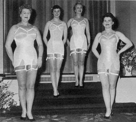 women in girdles